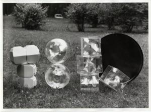 Moduli a sinistra, parco Sempione - Archivio fotografico La Triennale di Milano